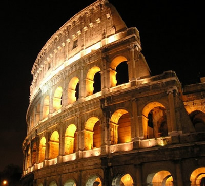 The Colosseum - the ultimate icon of Rome that represent Rome, Italy and Ancient Romans.
