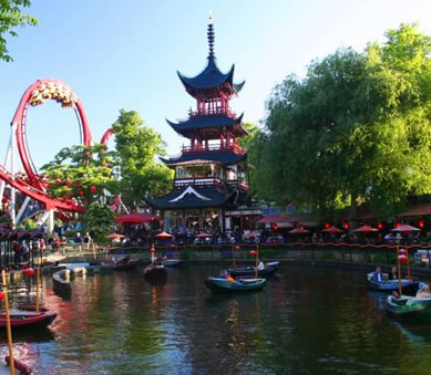 The Tivoli Gardens, Copenhagen of Denmark
