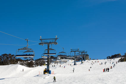 Snow Skiers at at Perisher Valley