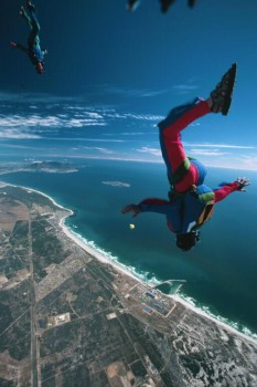 Skydiving near Cape Town