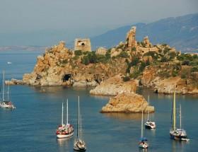 Boats in the Mediterranean Sea, Sicily