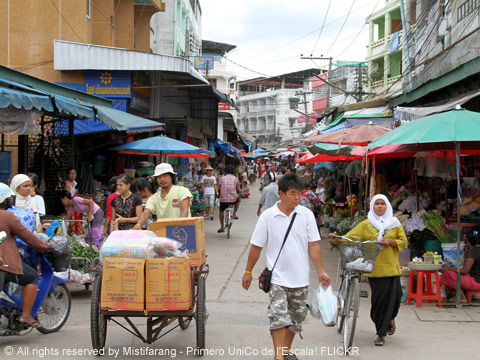 Mae Sot Market in Thailand Image