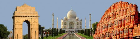popular tour destinations in India; Delhi, Agra and Jaipur