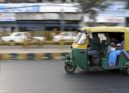 Busy Roads in India