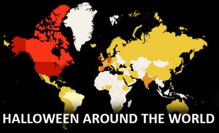 Interactive World Map Halloween Traditions From Around