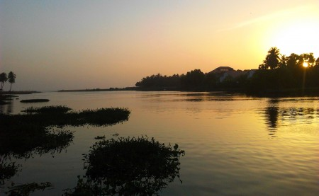 Sunset at Veli Lake