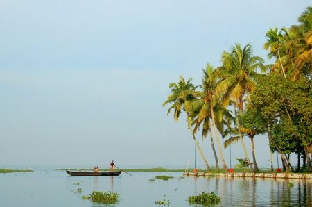 stunning backwaters of kumarakom