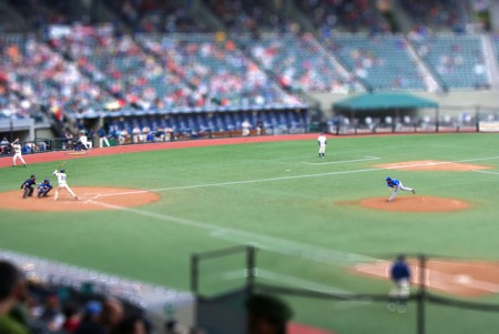 A baseball match