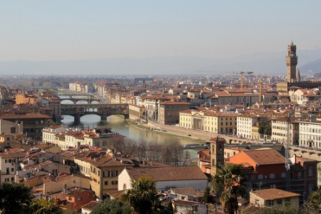 Admire Florence from the hilltop