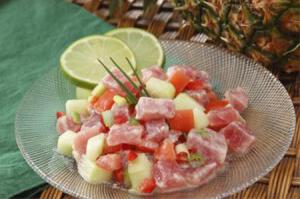 Poisson Cru, traditional Frech Polynesian dish