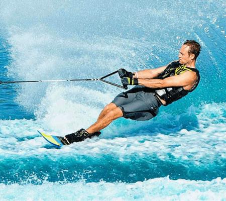 Water Skiing at the Sea, Dubai