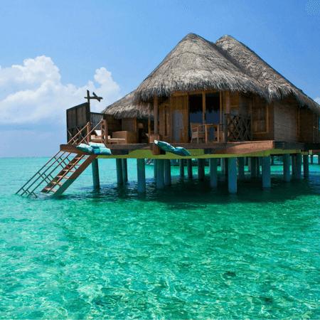 Bali island ocean bungalows